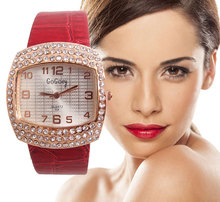 Luxurious Gogoey Model Informal watches Girls Woman Trend Crystal Costume Quartz Wristwatches Clock Hours go006