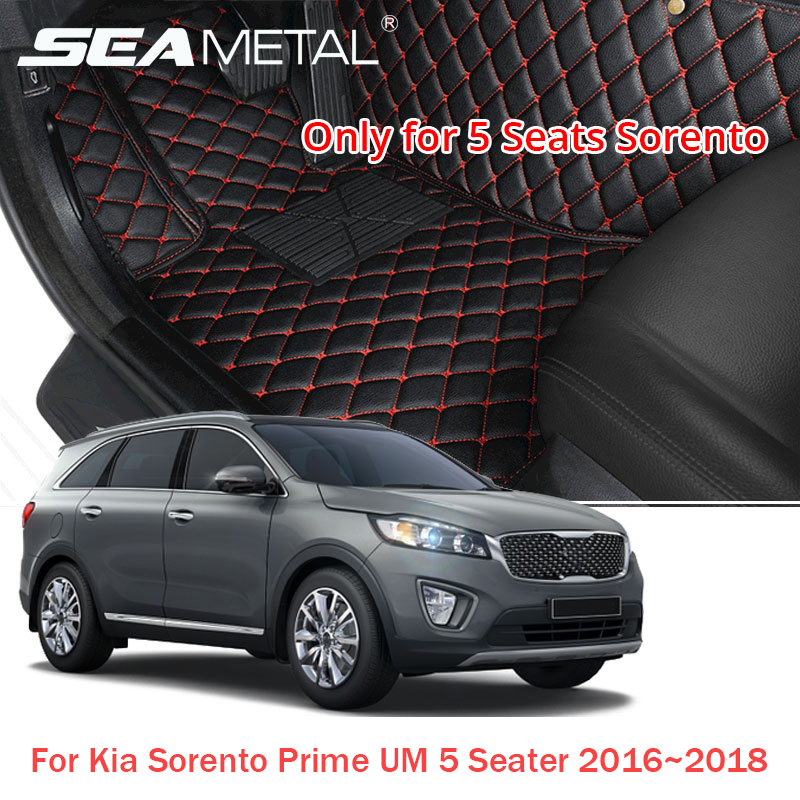 LHD For Kia Sorento Prime UM 5 Seater 2018 2017 2016 Car Floor Mats Custom Auto