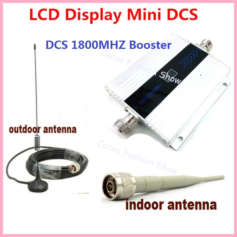 LCD Display GSM Repeater 1800Mhz 4G Cellular Signal Booster Cell Signal Amplifier booster DCS 1800 Mobile Phone Signal amplifier
