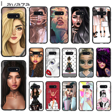 Lavaza Fashion gir Soft Case for Galaxy Note 8 9 S7 edge S8 S9 S10 Plus S10e M10 20 30 Cover