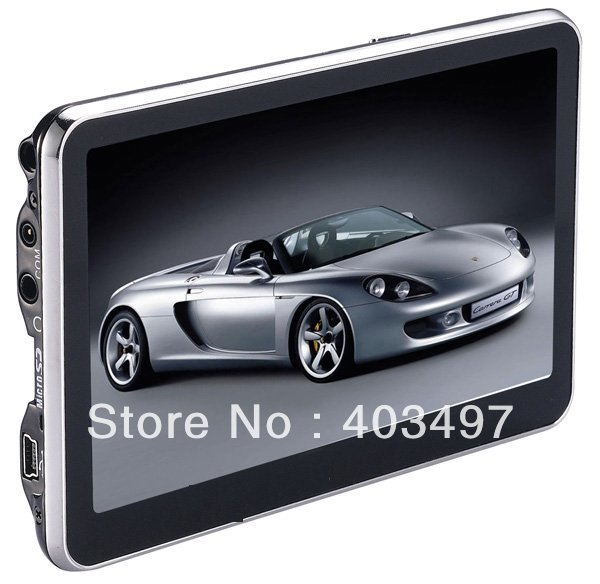 5 inch GPS Navigator without Bluetooth AV IN 4GB load 3D Map new navitel map