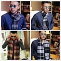 2016 новых людей дешевые шарф Корейский модальные классический плед шарф осень/зима мужской бизнес теплые шарфы продаж бесплатная доставка
