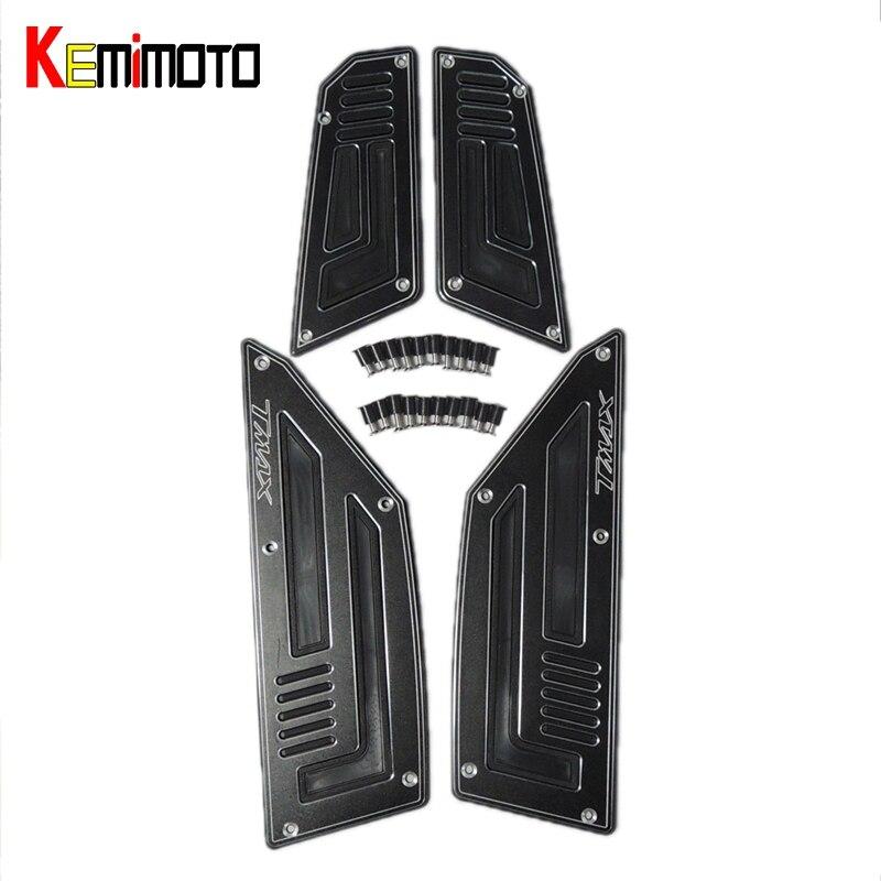 KEMiMOTO T-MAX 530 Передняя подножка подножек подножки шаги для Yamaha Tmax 530 2012-2016 2012 2013 покрытия для пола