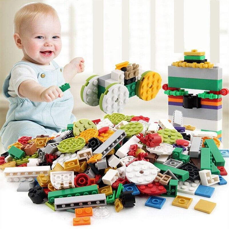 1000 stücke Kleine Bausteine Set ABS Montieren Ziegel Teile DIY Pädagogisches Spielzeug Kompatibel Legoed Duplo Block Geschenk für Kinder