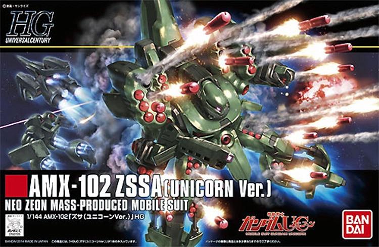 1PCS Bandai 1/144 HGUC 180 AMX-102 ZSSA Unicorn Gundam Mobile Suit Assembly Model Kits Anime action figure Gunpla juguetes ohs bandai mg 179 1 100 sengoku astray gundam mobile suit assembly model kits