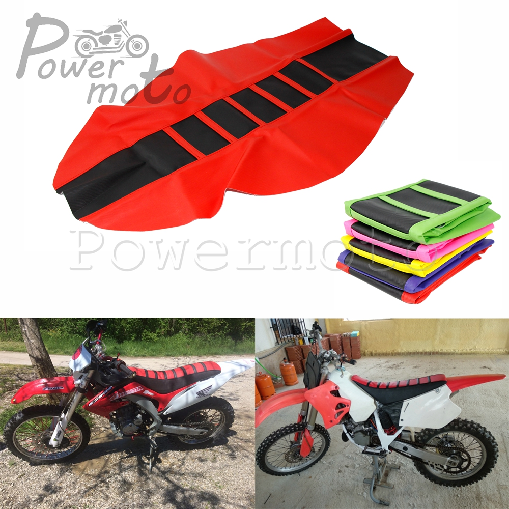 <font><b>Enduro</b></font> Motorcycle Red Rubber Gripper Soft Seat Cover For Kawasaki Yamaha Honda CR CRF CRM XR 125 150 230 <font><b>250</b></font> 450 500 650 R/L/RX image