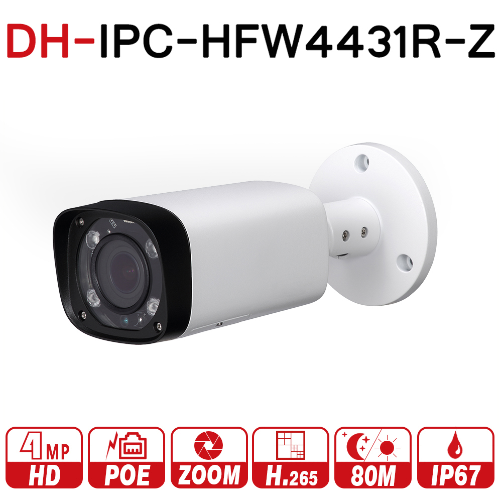 Dahua 4mp Notte Camera IPC-HFW4431R-Z 80 m IR con 2.7 ~ 12mm lente VF Motorizzato Zoom Messa A Fuoco Automatica Proiettile IP Camera