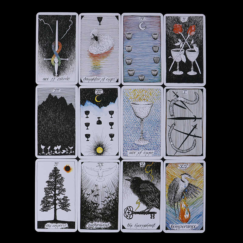 2019 78Pcs Wild Unknown Tarot Deck Rider Oracle Cards Deck 78 Cards,  Mysterious Animal Totem Tarot Cards Guidance Board Game