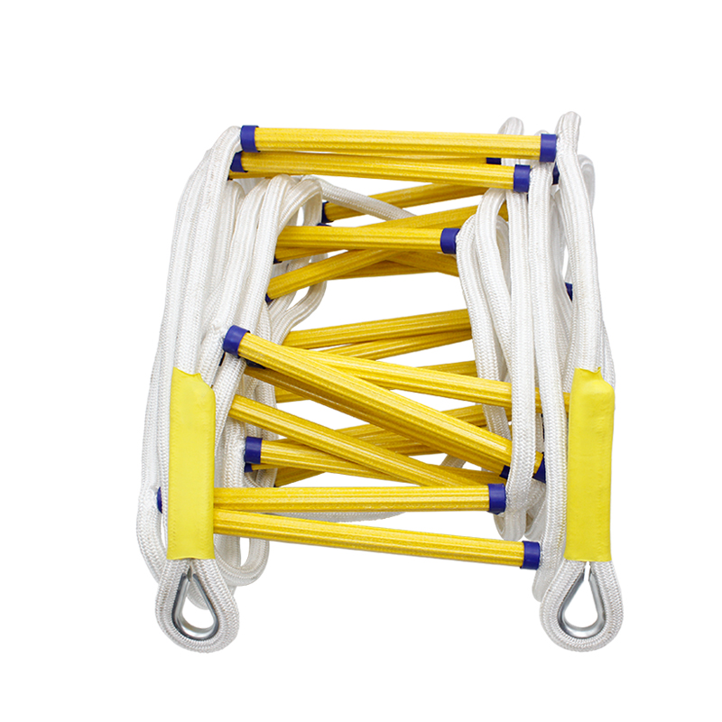 все цены на 5Meter Rescue Rope Ladder 17FT Escape Ladder Emergency Work Safety Response Fire Rescue Rock Climbing Escape Resin and polyester онлайн