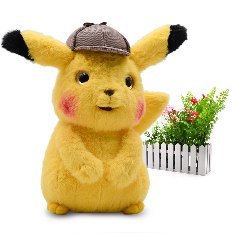 2019 Movie & TV Anime Cartoon Detective Pikachu Mr.Mime Plush Peluche Stuffed Dolls Kawaii Toy Great Christmas Gift For Children