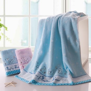 Wholesale price, 5 pieces, pure cotton bath towel, using no twist yarn process, especially soft and absorbent