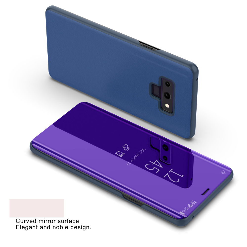 Note 9 Smart Flip Stand Mirror Case For Samsung Galaxy Note 9 Note9 Clear View PU Leather Cover For Samsung Galaxy Note 9 Fundas