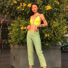 Crop Tanks Top With Metal Ring Streetwear Off Shoulder Backless Camisole Tops Womens Hollow Out Summer 2019