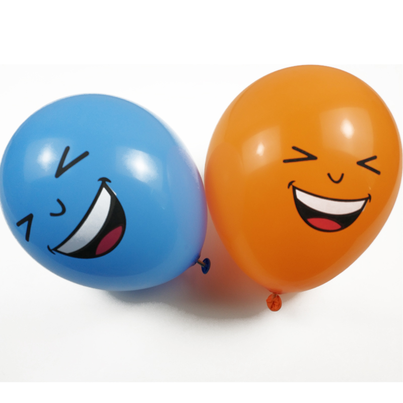 100pcs/pack 2.8g 12 inch Smiley funny face Colorful Latex Round Balloon For Birthday Party Wedding Christmas Decoration
