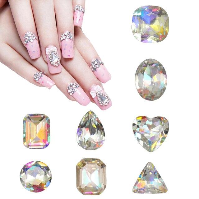 15 pcs/lot (15 designs can choose) Rhinestones for Nails 3D Nail Art ...