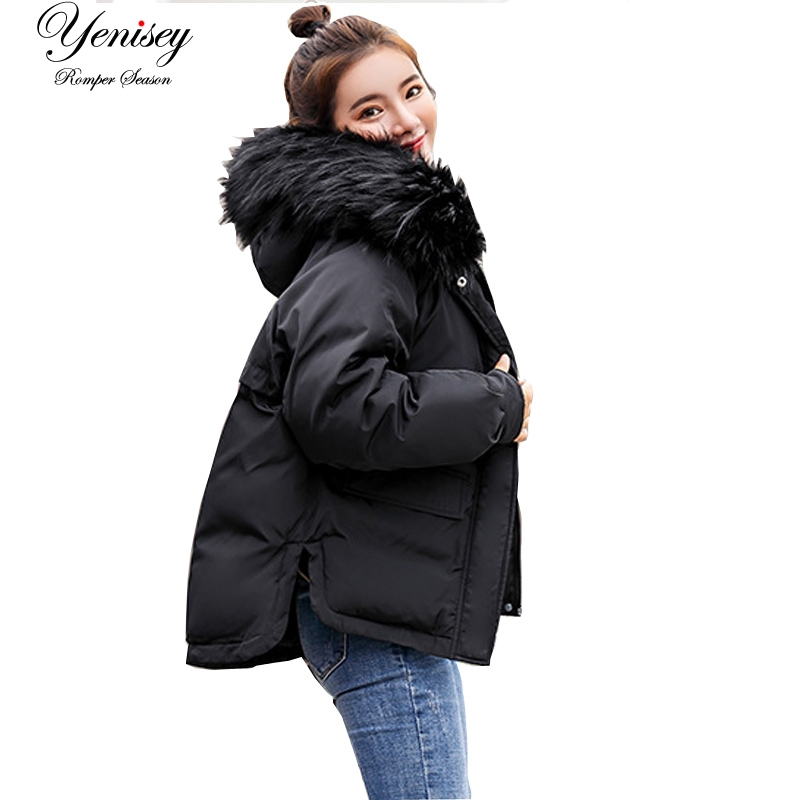 Real New Arrival Down Jacket Winter Jacket Women Single Full Slim Hair Cotton-padded Clothes Big Jacket Coat 907