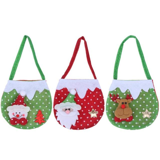 Creative Christmas Tree Pattern Santa Claus Candy Bag Handbag Home Party  Decoration Gift Bag Merry Christmas Supplies 2017 7a3814f7a867d
