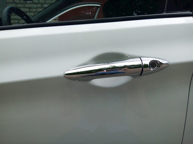 For HYUNDAI TUCSON TL 2015 2016 ABS CHROME DOOR HANDLE COVER Auto ACCESSORIES Free shipping111 (1)