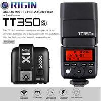 Tüketici Elektroniği'ten Flaşlar'de Godox Mini Speedlite TTL TT350S Yüksek Hızlı 1/8000 s GN36 + 2.4G kablosuz Güç Tetik X1T S Kiti sony a77II a7RII a7R  vb