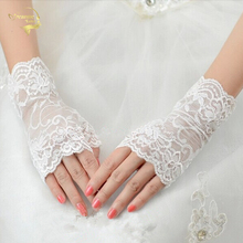 Bridal lace gloves short design lucy refers to accessories white wedding G027