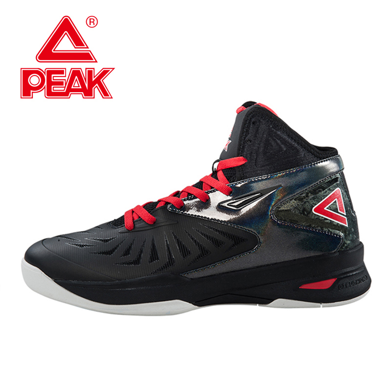 PEAK Mens Sports Shoes Basketball Breathable Competitions Sneakers Cushion-3 REVOLVE Basquetball Sneaker Basket Men EUR 40-50 mizuno men rebula v3 ag professional cushion soccer shoes sports shoes comfort wide sneakers p1ga178603 yxz069