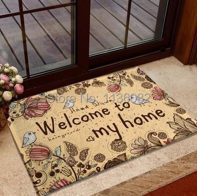 Free Shipping Many sizes Hot selling Zakka cartoon slip-resistant pad flannel bedroom carpet slip-resistant mat/doormat
