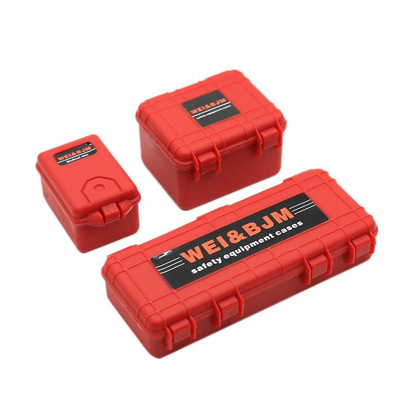 3 pièces en plastique Rc boîte de rangement de voiture outil de décoration pour Traxxas Trx4 Axial Scx10 90046 D90 1/10 Rc accessoires sur chenilles