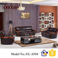 Malaysia Design Furniture Royal Style Leather Sofa For Living Room
