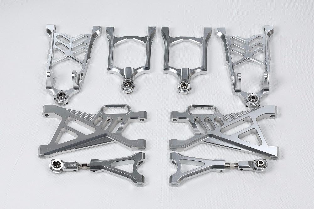 GTB corsa CNC in alluminio anteriore/posteriore inferiore/superiore del braccio set per HPI/Rovan/KM baja 5b, ss, 5 t-in Componenti e accessori da Giocattoli e hobby su  Gruppo 1