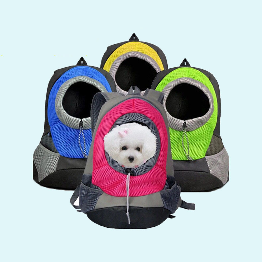 Pet Carrier Dog Carrier Pet Backpack Bag Portable Travel Bag Pet Dog Front Bag Mesh Backpack Head Out Double Shoulder Puppy Dog