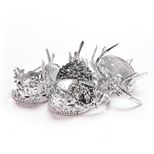 Silver Princess Crowns For Barbie Doll 20 Pcs Set
