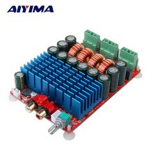 Wholesale prices Aiyima TAS5630 HIFI Stereo Digital Amplifier Audio Class D Amplifiers Board High Power 2X300W Amplificador DC 25-50V