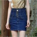 2016 новое прибытие женские весна лето джинсовые высокой талией джинсы бюст юбки женщины плюс размер тонкий юбка S-4XL бесплатная доставка