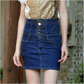 2016 new arrival women's spring summer denim high waist jeans bust skirts woman plus size slim skirt S-4XL free shipping
