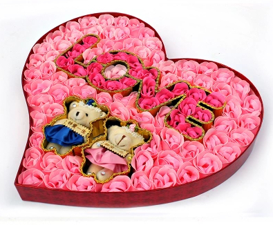 soap flowers heart bear pink rose gift box for lover 2015 valentines day gifts send girlfriend i love you romantic gifts on aliexpresscom alibaba group