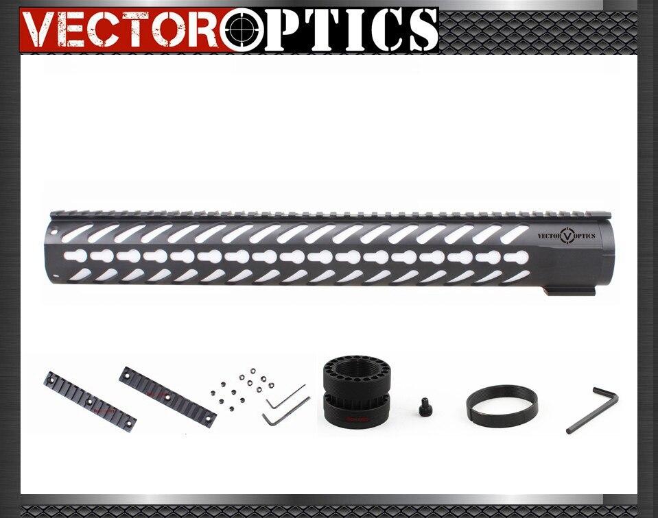 Vector Optics AR15 M4 M16 KeyMod Tactique 16.5 pouce One Piece Free Float Handguard Mont Support avec Détachable Rails NOIR