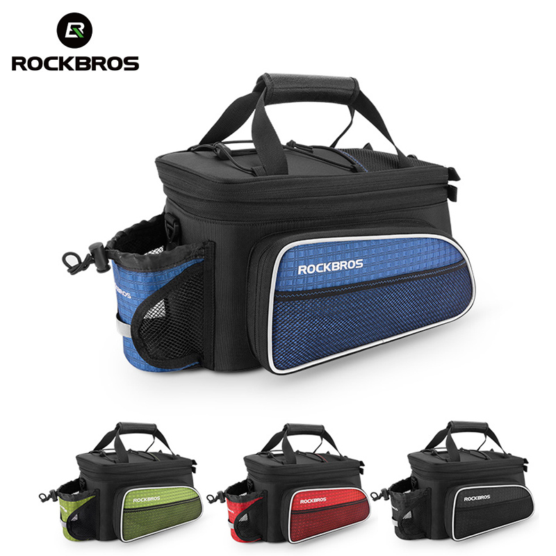 ROCKBROS Bicycle Bag Rear Package Cycling Bike Carrier Seat Bags Tail Trunk Pannier Backpack Large Capacity Case Rainproof conifer travel bicycle rack bag carrier trunk bike rear bag bycicle accessory raincover cycling seat frame tail bike luggage bag