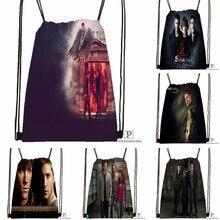 Custom Supernatural TV  Drawstring Backpack Bag Cute Daypack Kids Satchel (Black Back) 31x40cm#180531-02-48