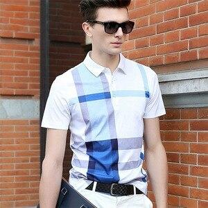 Image 5 - ZOGAA, летние мужские рубашки поло с коротким рукавом, хлопковые мужские рубашки поло в клетку, деловые повседневные топы, рубашки поло, мужские рубашки