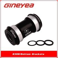 GINEYEA Bearing Bottom Bracket BB30 CNC processing 46mm OD Alloy Cups 24mm through Axle fits 68-73mm MTB Road bike BB parts