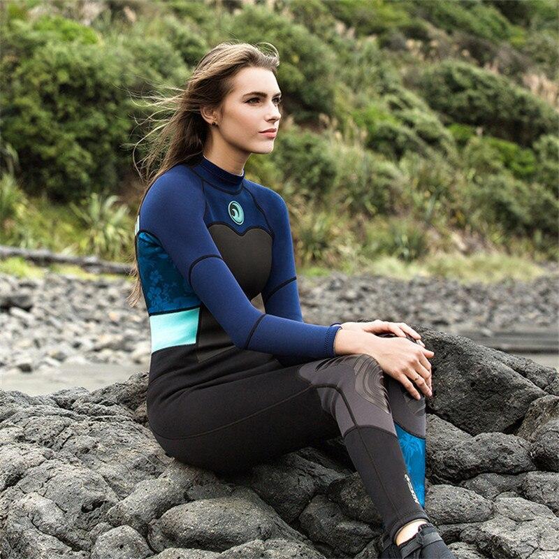 e8570fca5b79 Aliexpress.com : Buy Hisea 1.5mm Neoprene Long sleeve Wetsuit Women WetSuit  Diving Swimwear kite Surfing Swimsuit one piece Warm Jumpsuit 2018 New from  ...