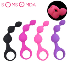 Silicone Anal Beads Butt Plug Masturbator Anal Balls Expander Vibrant Anal Plug Vaginal Massager Pussy Sex Toys For Women Men