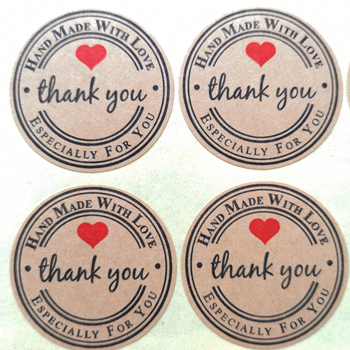 3600 stickers/lot 38mm round LOVE THANK YOU Self-adhesive craft paper sealing label sticker, Item No.TK20