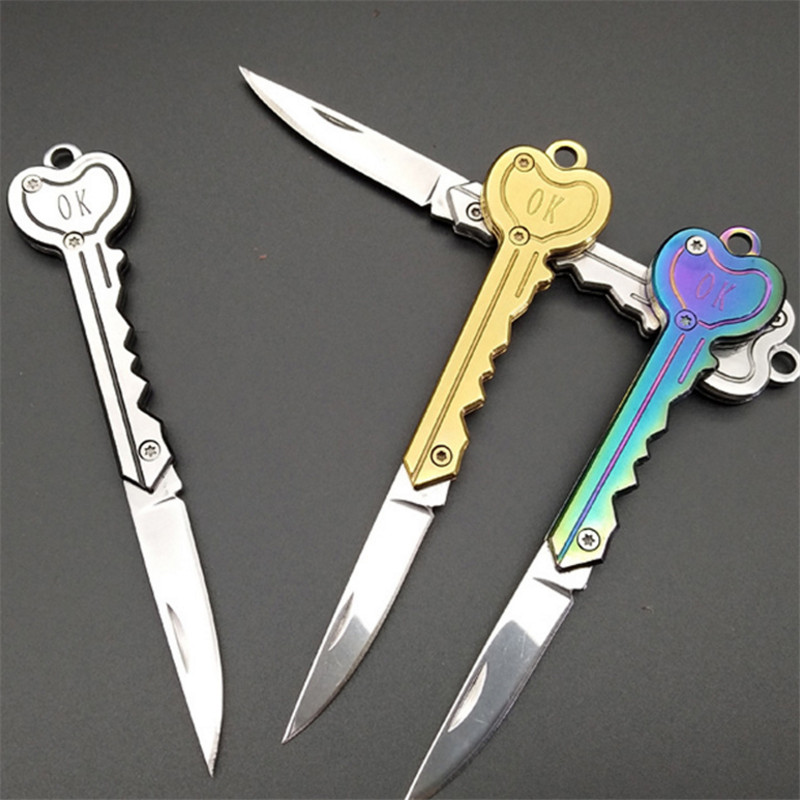 Portable mini letter opener new folding portable outdoor new OK key utility knife office stationery knife