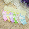 2016 new summer children's socks and 12 pairs of high-grade cotton candy-colored striped socks factory direct child