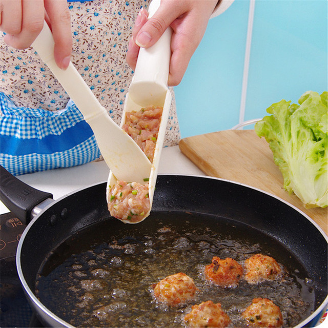 1 Set Convenient Meatball Maker Scoop Useful Pattie Meatball Fish Ball Burger Set DIY Home Cooking