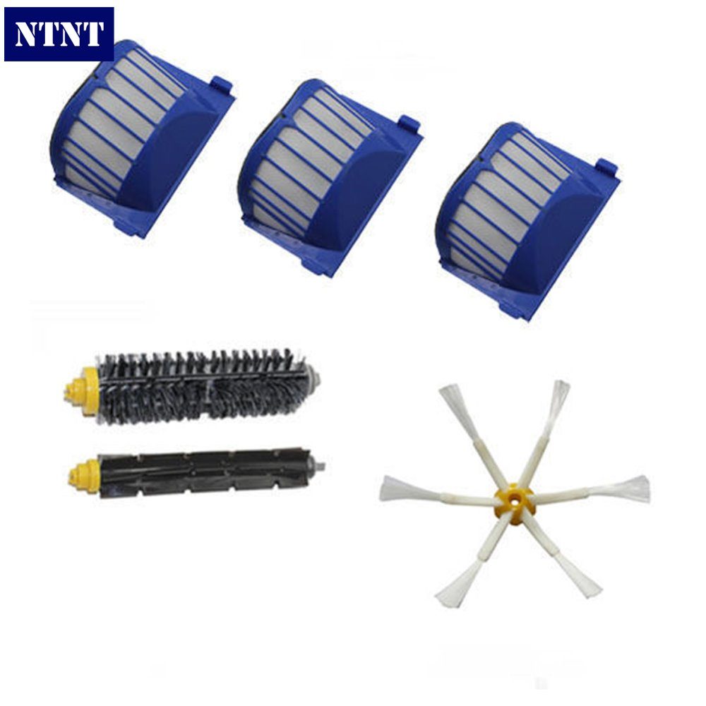 NTNT Free Post New for iRobot Roomba 600 Series 620 630 650 660 AeroVac Filter + Brush 6 armed kit ntnt replacement brush filter kit for irobot roomba aerovac 600 series 620 630 650 660