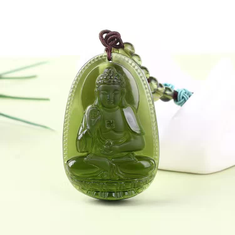 3 Natural Czech Moldavite green aerolites Carved Buddha Lucky Amulet Pendant crystal energy apotropaic free rope Unique Necklace wonderful handwork natural grade a green jadeite carved turtle crane lucky amulet pendant free necklace certificate jewelry