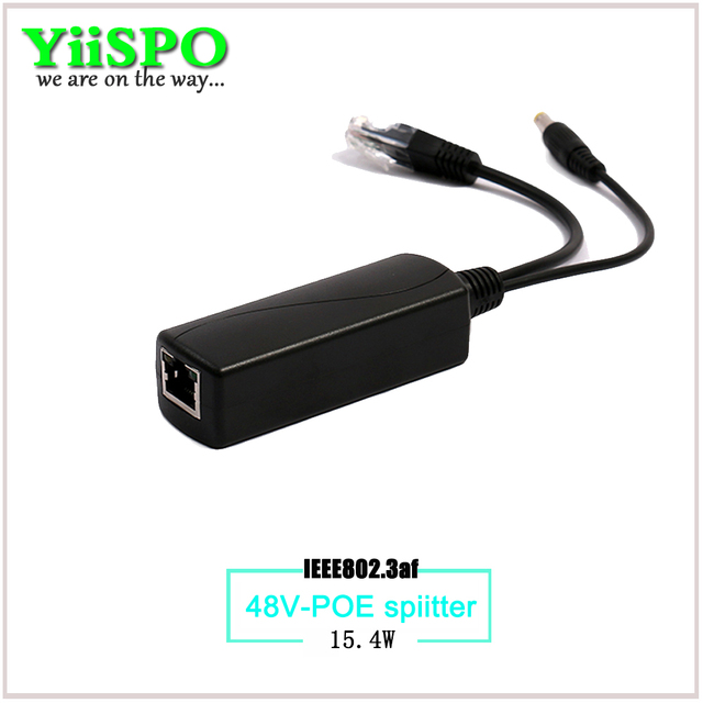 YiiSPO Active POE Switch IEEE802.3af 48V input 12V output 15.4W POE Splitter 100meters POE camera nvr without power adaper