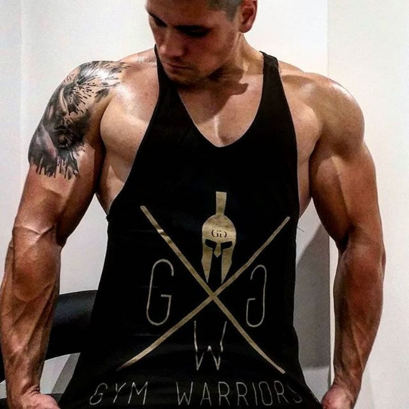 1357e7eeb45517 GYMS WARRIORS Gyms Tank Top Men Blank Bodybuilding Clothing Stringer  Singlets Summer Fitness Men Sleeveless Cotton
